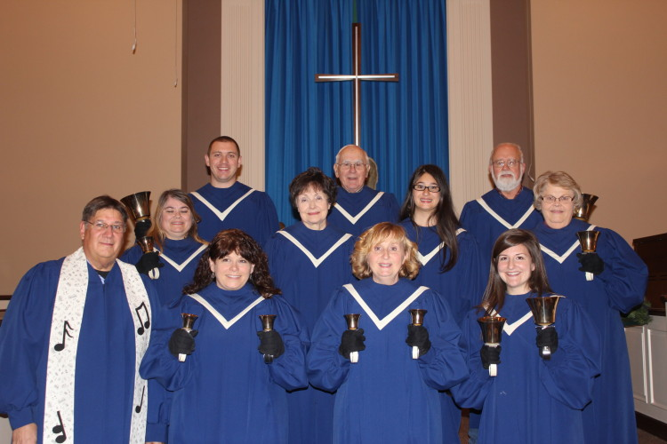 Adult 3 octave handbell choir.